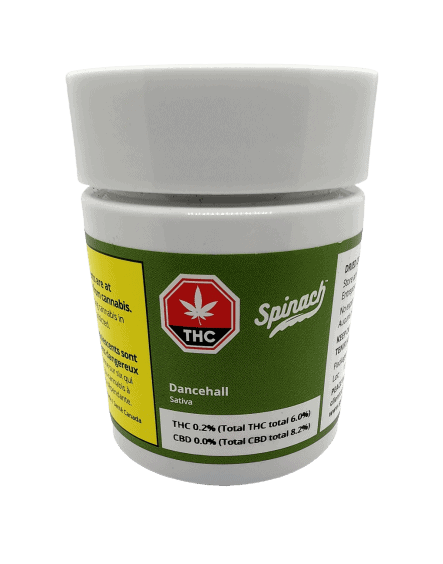 Dancehall Strain made by spinach. container pic.
