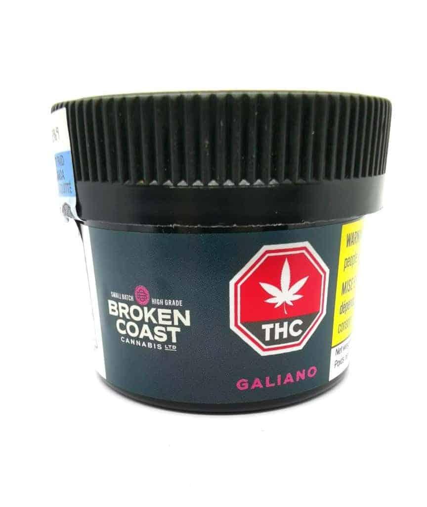 Galiano strain packaging, cannabis sensei